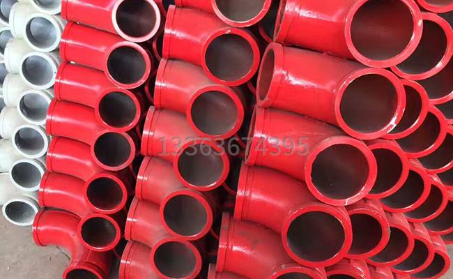 耐磨车泵管弯头的图片